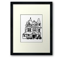 Grand Old Victorian House Framed Print