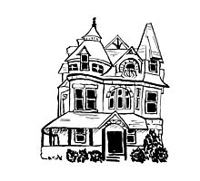 Grand Old Victorian House Photographic Print