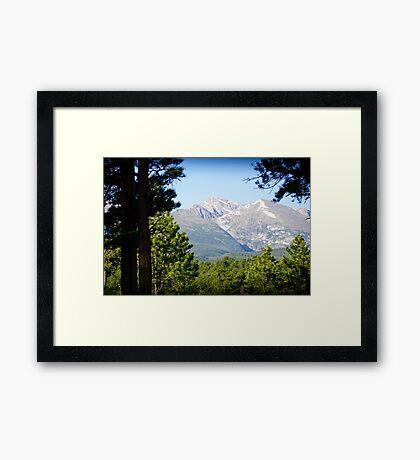 Sneak Peak to the Mountain Framed Print