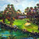 the 4th Par 4 town of 1770 &Agnes Water golf course by tola