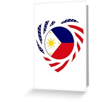 Filipino American Multinational Patriot Flag Series 2.0 Greeting Card