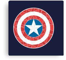 Captain America - Stylised Shield Canvas Print