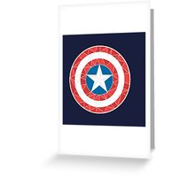 Captain America - Stylised Shield Greeting Card