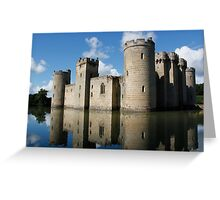 The Medieval Bodiam Castle in England Greeting Card