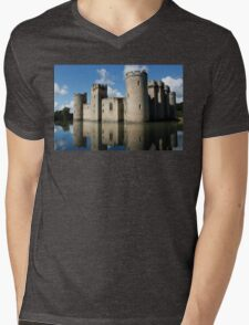 The Medieval Bodiam Castle in England Mens V-Neck T-Shirt