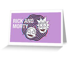 Rick And Morty 3D Greeting Card