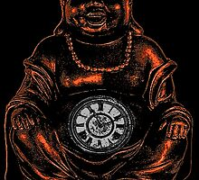 Belly Clock Buddha by Bronzarino