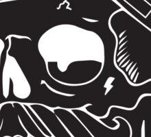 Chi Skull Hat   Sticker