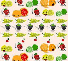 Strawberry amok! by pencilfury