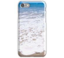 Wave on the sandy beach iPhone Case/Skin