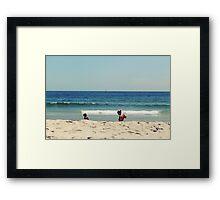Girls And Waves Framed Print