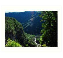 Spahats Creek - Wells Gray Provincial Park Art Print