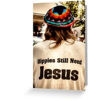 What Would Hippies Do? WWHD Greeting Card