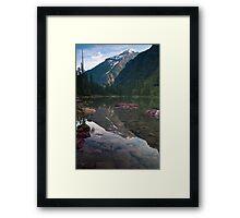 Avalanche Lake, Montana Framed Print