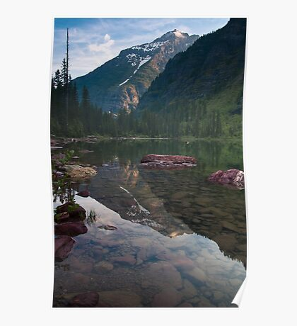 Avalanche Lake, Montana Poster