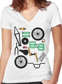 bmx parts Women's Fitted V-Neck T-Shirt