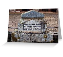 Comical Headstones (1) Greeting Card