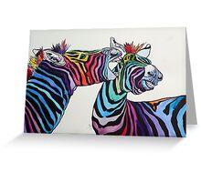 Funny zebras Greeting Card
