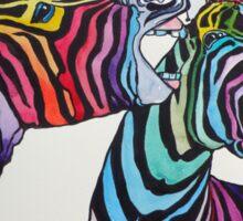 Funny zebras Sticker