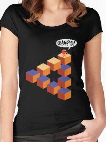 Q*bert's Conundrum Women's Fitted Scoop T-Shirt