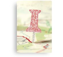 Paper Towns Typography Canvas Print