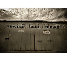Private Rail Siding Photographic Print