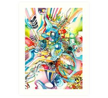 Unlimited Curiosity - Watercolor + Pen Art Art Print