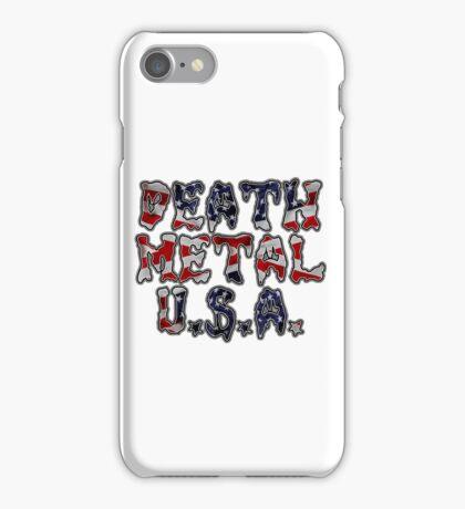 DEATH METAL U.S.A. iPhone Case/Skin