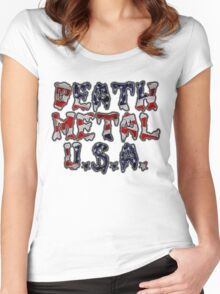 DEATH METAL U.S.A. Women's Fitted Scoop T-Shirt