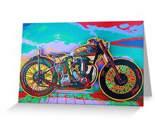 BSA Motorcycle Abstract Greeting Card