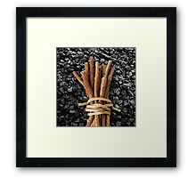 These Sticks and Stones Won't Break Your Bones Framed Print