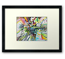 Tubes of Wonder - Abstract Watercolor + Pen Illustration Framed Print