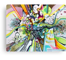 Tubes of Wonder - Abstract Watercolor + Pen Illustration Canvas Print
