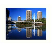 Bridge Over Tranquil Waters Art Print