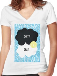 The Fault in Our Stars Typography Women's Fitted V-Neck T-Shirt
