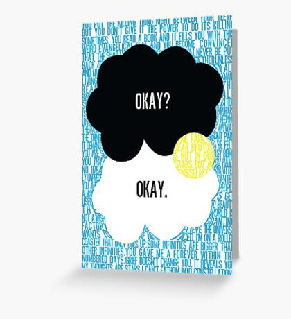The Fault in Our Stars Typography Greeting Card