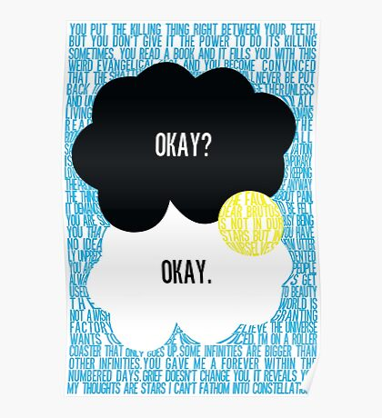The Fault in Our Stars Typography Poster