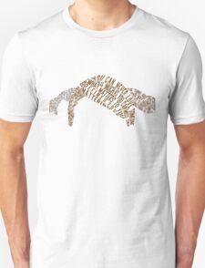 An Abundance of Katherines Typography  T-Shirt
