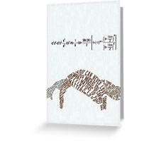 An Abundance of Katherines Typography  Greeting Card
