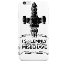 I Solemnly Swear That I Aim To Misbehave...Again iPhone Case/Skin