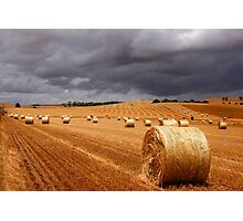 Harvest before the storm Photographic Print