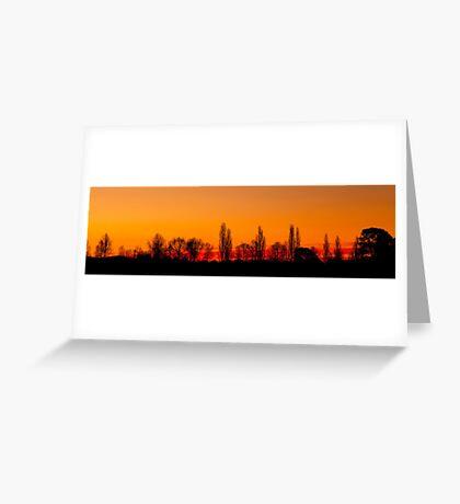 Sunset Panorama 1 Greeting Card