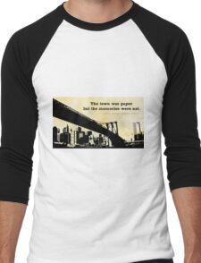 A Town on Paper Men's Baseball ¾ T-Shirt