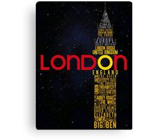 London Typography Canvas Print