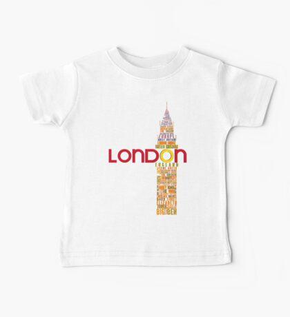 London Typography Baby Tee