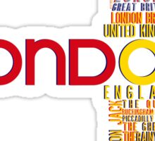 London Typography Sticker