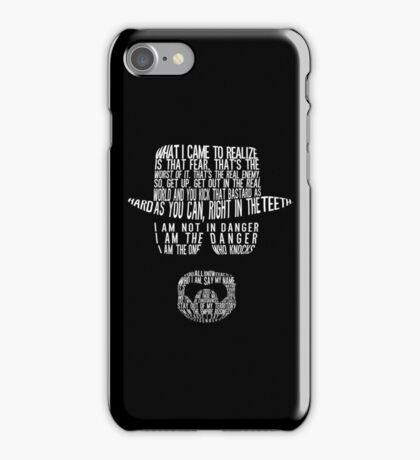Breaking Bad - Walter White/Heisenberg Typography (White Print) iPhone Case/Skin