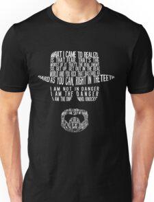 Breaking Bad - Walter White/Heisenberg Typography (White Print) Unisex T-Shirt