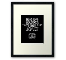 Breaking Bad - Walter White/Heisenberg Typography (White Print) Framed Print