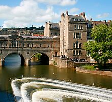 Pulteney Bridge Bath England by jwwallace